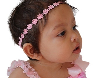 Pink Headband, Baby Headband, Baby Headband, Infant Headbands, Pink Headpiece, Newborn Headband