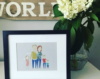 CUSTOM Digital Family Portrait up to 8 people