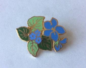 Vintage Hallmark Flower Enamel Pin