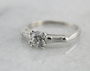 Breathtaking Platinum Diamond Engagement Ring, Transitional Cut Diamond AR67XT-R