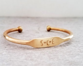 Custom Brass Cuff Bracelet, Personalized Jewelry, Hand Stamped, Mothers Day, Gift for Her