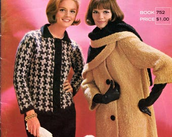 1960's Columbia Minerva Knitted Jackets Sweaters Coats plus much More Book 752