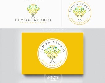 Lemon Tree - luxury tree design logo - wedding photography boutique store - tree branding kit, photographer branding kit florist kit