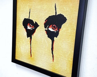 Alice Cooper Eyes RETRO- Wall Art Giclee Canvas Framed Paint, Painting, Poster, Print