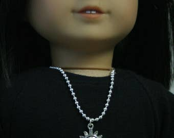 Sun Necklace, Made to Fit American Girl Doll, 18 inch Doll Jewelry, Doll Jewelry, 18 Inch Doll Necklace