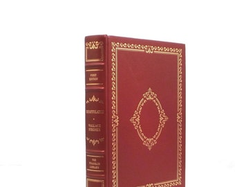 "Franklin Library, ""Recapitulation""  by Wallace Stegner, limited first edition, leather bound, rust leather with gold trim, Wallace Stegner"
