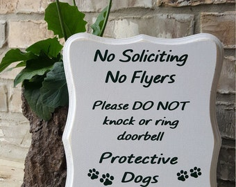 No Soliciting No Flyers Sign