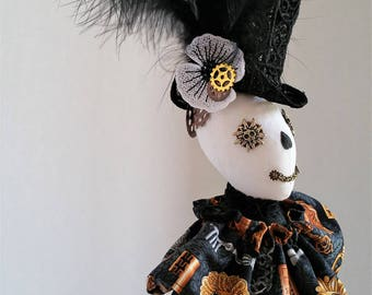 Steampunk Goth Skeleton Doll