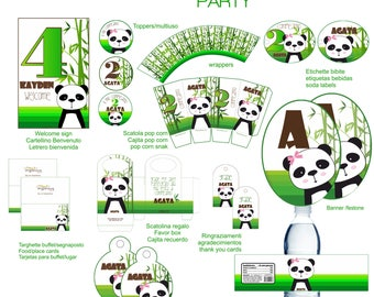 Panda printable party