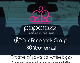 Paparazzi car decal, direct sales decal, custom car decal,