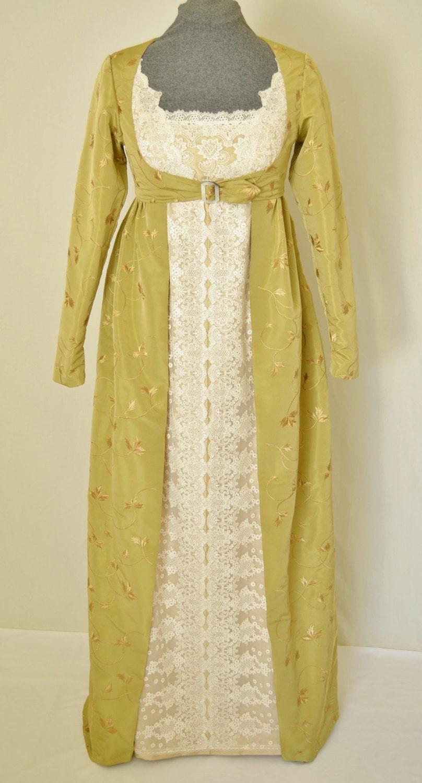 Regency Dress Jane Austen Style Dress Or Wedding Dress With