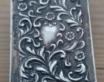 Vintage sterling silver matchbox cover