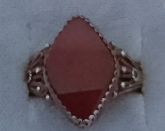 Vintage carnelian and silver ring