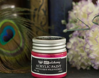 Wild Fuchsia Art Alchemy Metallic Acrylic Paint - Thick, Shiny Acrylic Craft paint