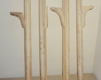 4 Vintage Replacement Kitchen Table Legs 29 Inches Long x 1.75 Inches