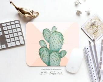 "Mousepad ""Copper Spike"" Iveta Abolina Mousepad Mouse Mat Desert Cacti Mousepad Office Mousemat Rectangular Cactus Mousepad Round I176"