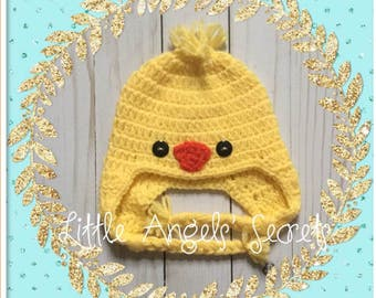 Chick crochet hat, NB Baby, Photo Prop, chick hat, chick baby accessories, crochet hat.
