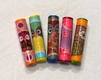 Paper Beads - Owls