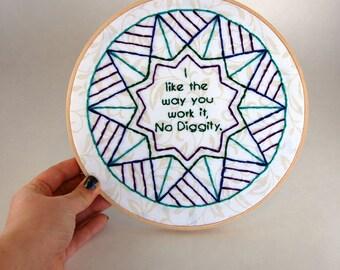 No Diggity Hoop Art - Blackstreet - mandala - I like the way you work it