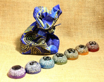 Chakra Orgone Set - Positive energy healing tools for healers - reiki, quantum touch, reflexology, etc