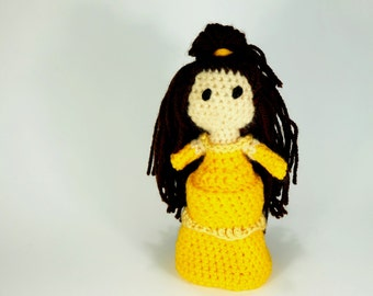 Princess Inspired by Belle from The Beauty and the Beast Disney Amigurumi Yarn Crochet Doll