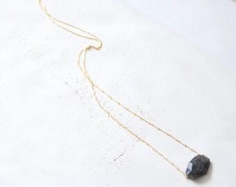 Saltire end stone grey natural labradoryte