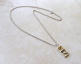Capricorn Zodiac Necklace, Sterling Silver Capricorn Charm, Faceted Oxidized Sterling Silver Chain, Capricorn Jewelry, Capricorn Jewellery