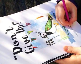 SPIRAL-BOUND Pre-Order  Dont Give Up Children's Convention Spiral Bound Notebooks