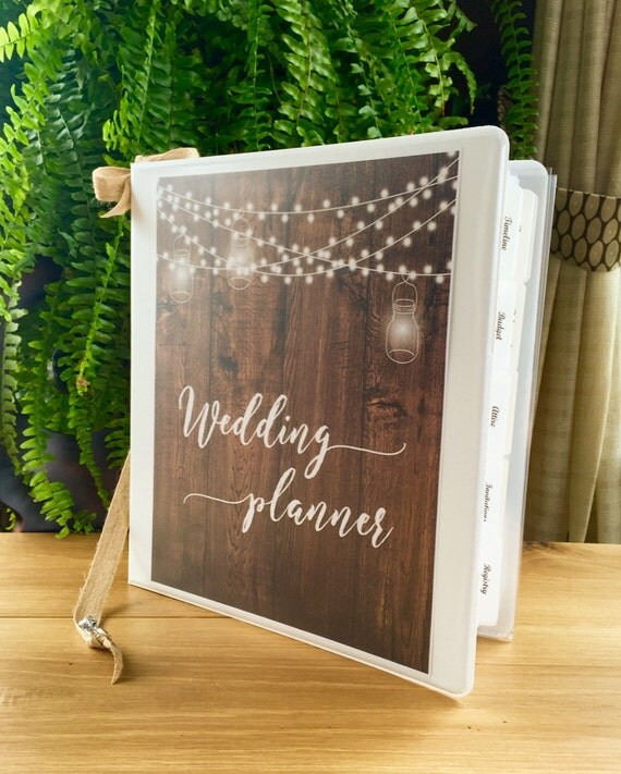 Wedding Planner Book And Wedding Organizer DELUXE Binder