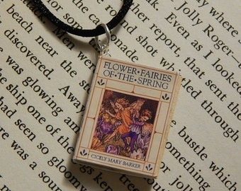 Flower Fairies Book Necklace, Brooche, or Keychain