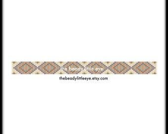 Bead Loom Patterns - Loom Tutorial - Beading Pattern - Loom Beading Pattern - Bracelet Tutorial - Loom Bracelet Pattern - HIPPIE BAND 2