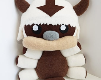 Appa Plush Inspired by Avatar The Last Airbender, Flying Bison Plushie, Legend of Korra (Unofficial)