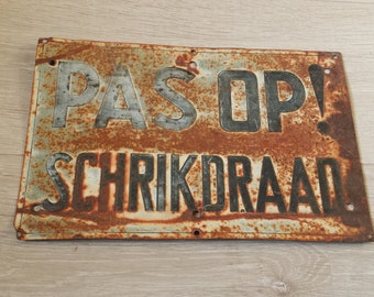 Old Industrial Sign, Rusty Metal Sign, Old Metal Sign, Industrial Loft, Advertising Sign, Old Rusty Sign, Rusty Patina, Industrial Atelier