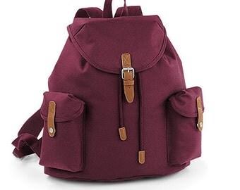 BLACK FRIDAY DEAL - Vintage Style Backpack Bag School Holdall Bargain Cheap