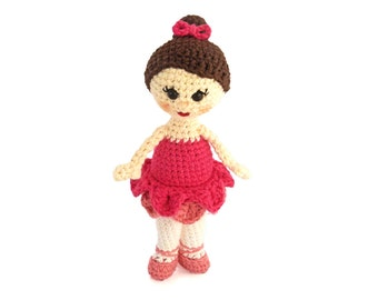 Amigurumi Doll Pattern Ballerina Crochet Doll Ballet Stuffed Animal Girl Doll Pattern