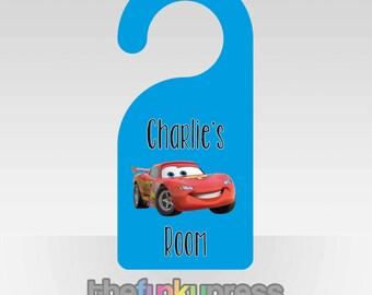 Personalised Children's Door Hanger Bedroom Gift Name Princess Car Monster Fairy