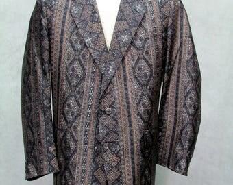 Vintage 1960s Sportcoat Tuxedo Jacket Multi Pattern Hardly Worn