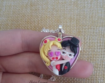 sailor moon bracelet, anime manga polymer clay fanart handmade usagi tsukino