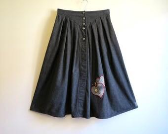 Full denim skirt – Etsy UK