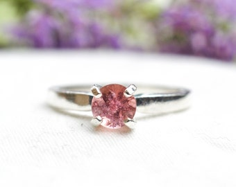 Natural Brilliant Cut Tourmaline Ring in 925 Sterling Silver *Free Worldwide Shipping*