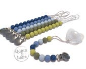 Silicone Teething Pacifier Clip - Soother Clip - Choose Color - Baby Teether - Bite Beads - Chew Toy - Chewing Beads Clip - Simple Classic