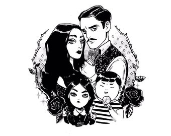 The Addams family - giclee art print