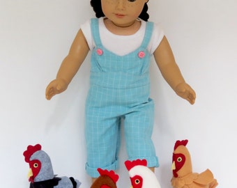 Doll CHICKENS Handcrafted for 18 Inch dolls such as American Girl®  Perfectly proportioned for the Lemon Bay Doll Chicken Coop