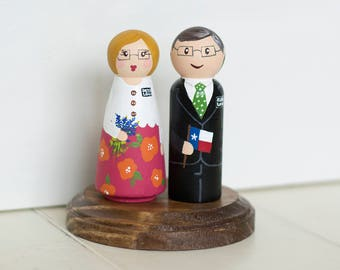 LDS Missionary Peg Dolls, Couple Missionaries, Couple Missionary Gifts, Goodbye Gift, Couples Mission, LDS Couple Missionary Peg Set