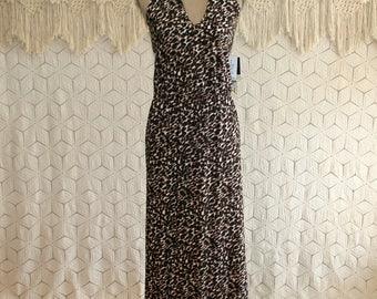 Animal Print Maxi Dress Long Halter Dress Womens Knit Summer Dress Large Womens Clothing
