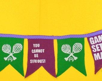 Wimbledon Bunting Garland Decoration