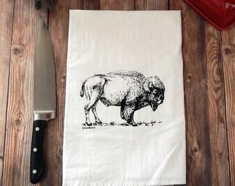 Buffalo Bison Tea Towel
