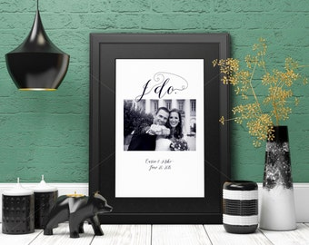I do Personalized Anniversary Gift Couples Present/Wedding Anniversary/ Wedding Gift/Bridal Shower Gift/ Engagement Gift