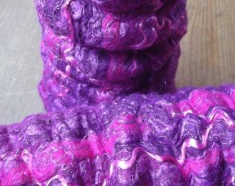 Felt Fingerless Gloves / Arm Warmers. Pure Merino Wool, Pink, O.O.A.K.