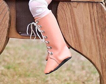 Melon Knee High Boots